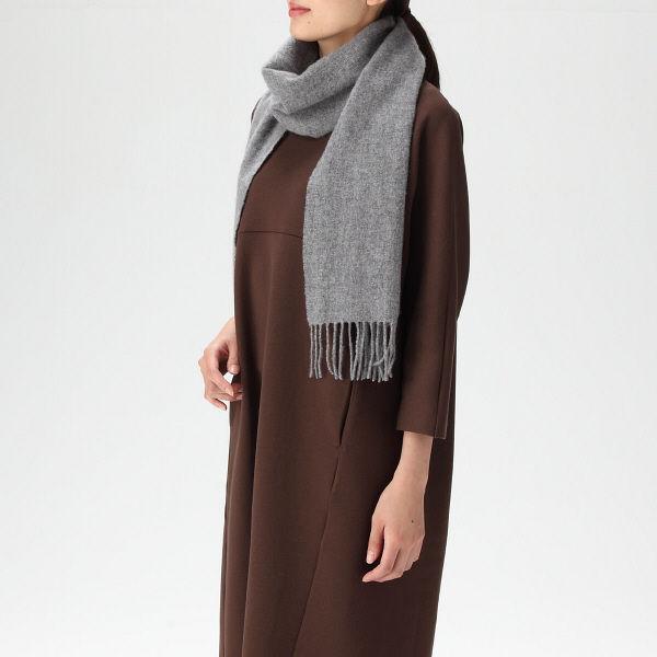 無印 ウール織りマフラー 30×180