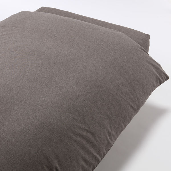 無印良品 オーガニックコットンフランネル掛ふとんカバー・D/杢ブラウン 190×210cm用