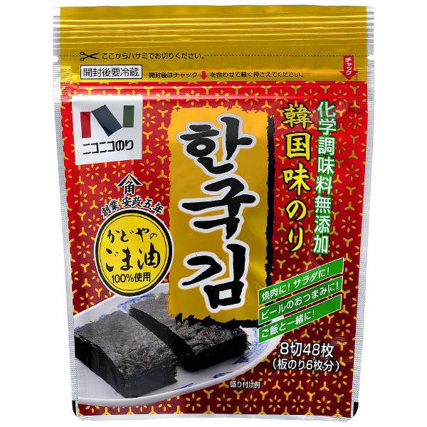 ニコニコのり 韓国味のり8切48枚 1個