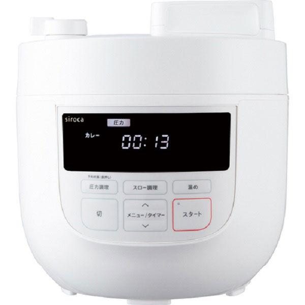 シロカ 電気圧力鍋SP-4D151(W)