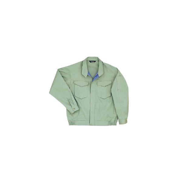 ミドリ安全 綿ブルゾン G366 上 ライトグリーン 5L  1着(直送品)