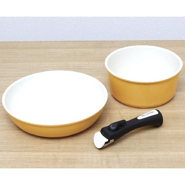 アイリスオーヤマ セラミッククイックパン 3点セット オレンジ CQP-SE3 (直送品)