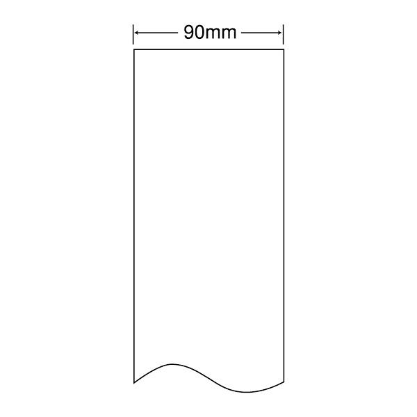 東洋印刷 感熱ロールラベル 90mm(ロール)ラベルサイズ90×長さ50m、ノーカットロール、裏面スリット1本入 THR3H 1箱(4巻) (直送品)