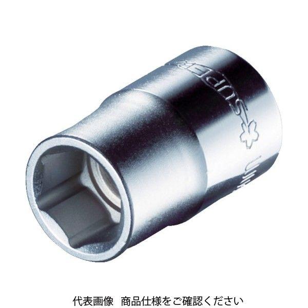 スーパーツール(SUPER TOOL) スーパー ソケツトレンチ用ソケツト(差込角:9.5mm)六角対辺:8mm NHS308 1個 409-3437(直送品)