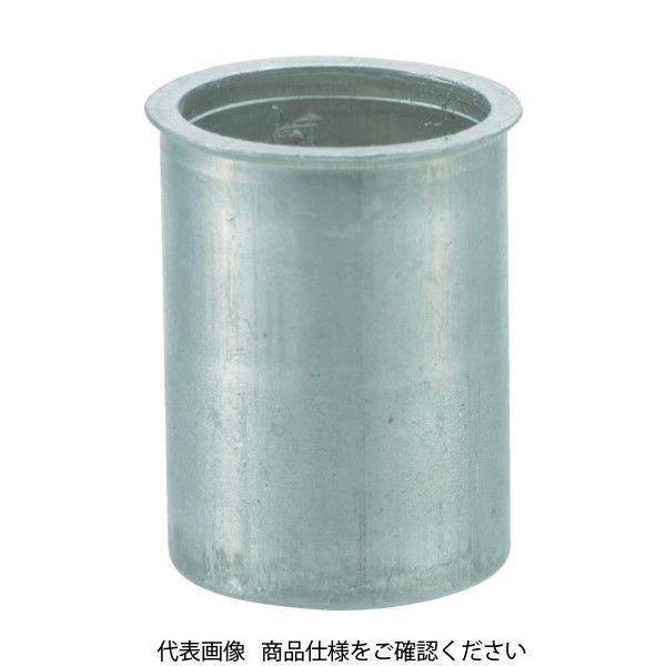 TRUSCO クリンプナット薄頭アルミ 板厚2.5 M4X0.7 1000個入 TBNF-4M25A-C 409-7114(直送品)