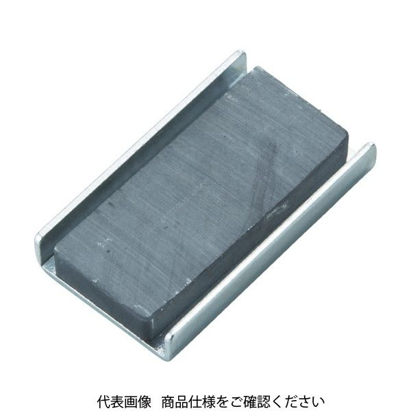 トラスコ中山(TRUSCO) TRUSCO キャップ付フェライト磁石79mmX38mmX13mm 5個入り TFC79K-5P 415-1640(直送品)