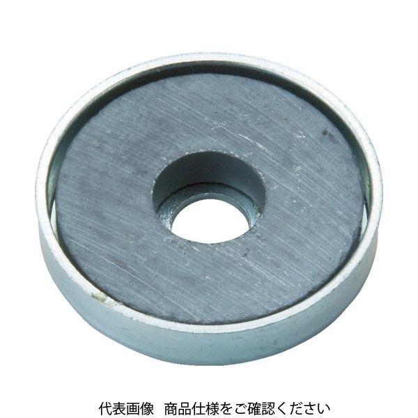 トラスコ中山(TRUSCO) TRUSCO キャップ付フェライト磁石 外径46mmX厚み4.7mm 1個入り TFC46RA-1P 415-2018(直送品)
