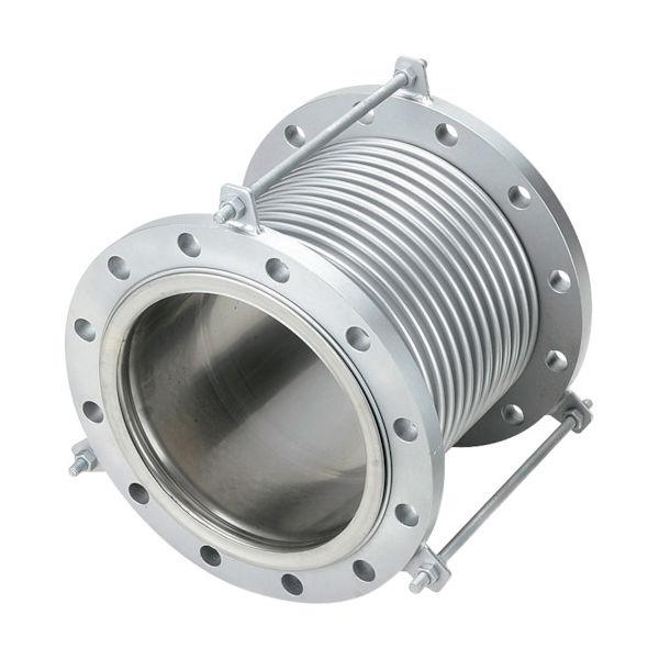NFK 排気ライン用伸縮管継手 フランジ5K/SS400(接液部SUS) 150A×150L NK7300-150-150 420-4719(直送品)