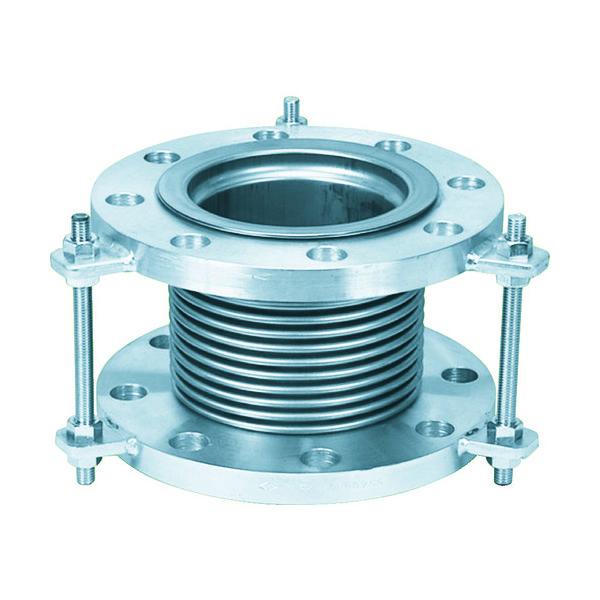 NFK 排気ライン用伸縮管継手 フランジ5K/SS400(接液部SUS) 100A×100L NK7300-100-100 420-4662(直送品)