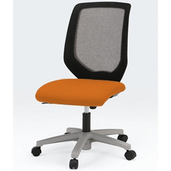 イトーキ コルト オフィスチェア ベースカラーホワイト 肘無し オレンジ KT-230JD-W9D3T1 1脚 (直送品)