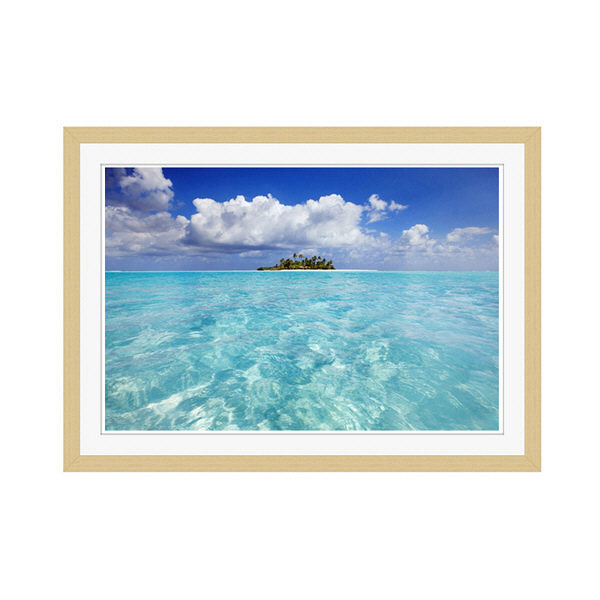 アートプリントジャパン 「South Male Atoll in the Maldives」 フレーム/M/木目 1枚