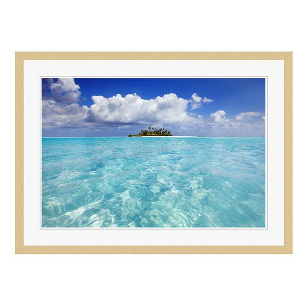 アートプリントジャパン 「South Male Atoll in the Maldives」 フレーム/L/木目 1枚