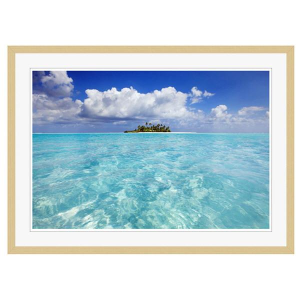 アートプリントジャパン 「South Male Atoll in the Maldives」 フレーム/XL/木目 1枚