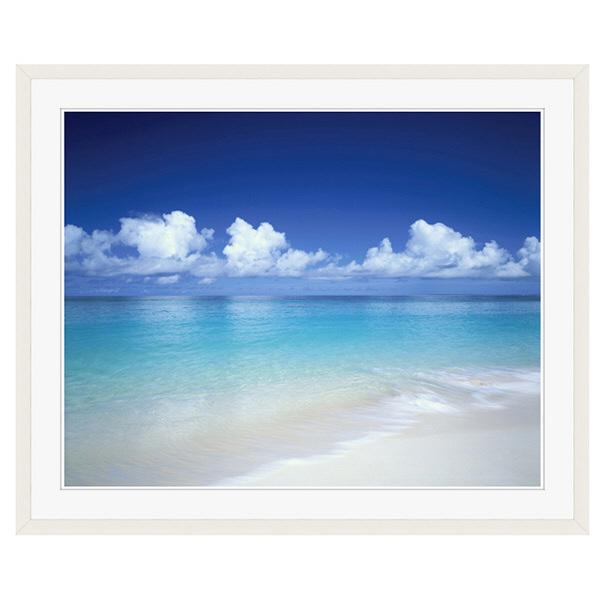 アートプリントジャパン 「白砂の宮古島の海岸 沖縄県」 フレーム/XL/ホワイト 1枚
