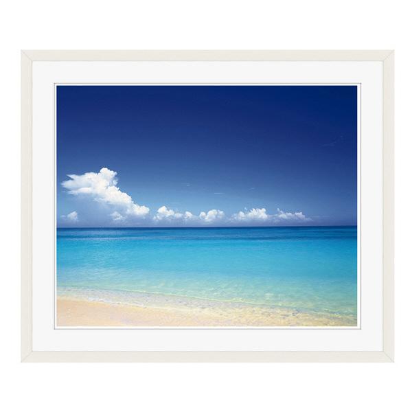 アートプリントジャパン 「青い海と空 沖縄」 フレーム/L/ホワイト 1枚