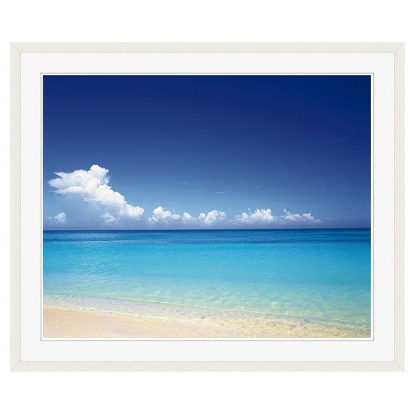 アートプリントジャパン 「青い海と空 沖縄」 フレーム/XL/ホワイト 1枚