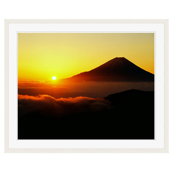 アートプリントジャパン 「丸山林道より望む富士山 日の出」 フレーム/XL/ホワイト 1枚