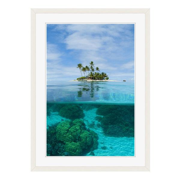 アートプリントジャパン 「ジープ島」 フレーム/L/ホワイト 1枚
