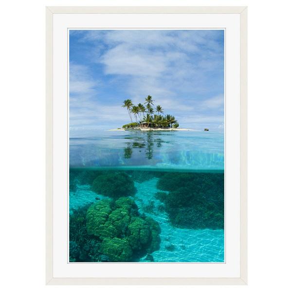 アートプリントジャパン 「ジープ島」 フレーム/XL/ホワイト 1枚