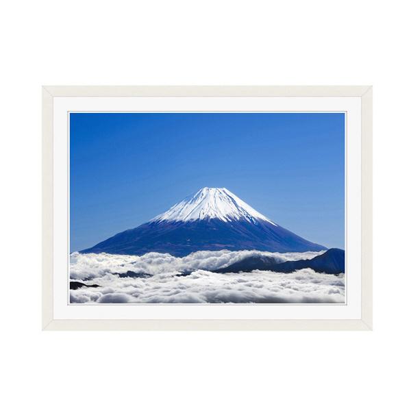 アートプリントジャパン 「富士山と雲海」 フレーム/M/ホワイト 1枚