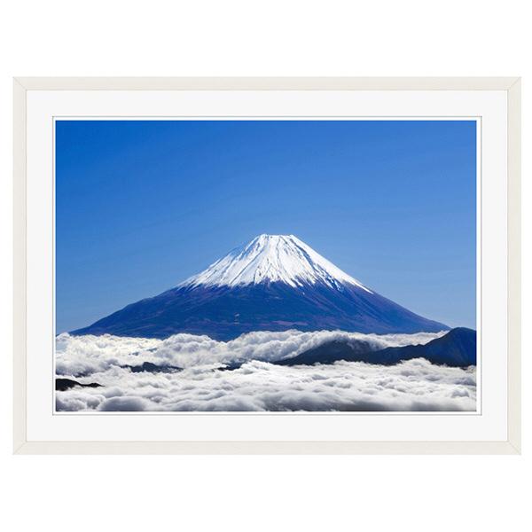アートプリントジャパン 「富士山と雲海」 フレーム/XL/ホワイト 1枚