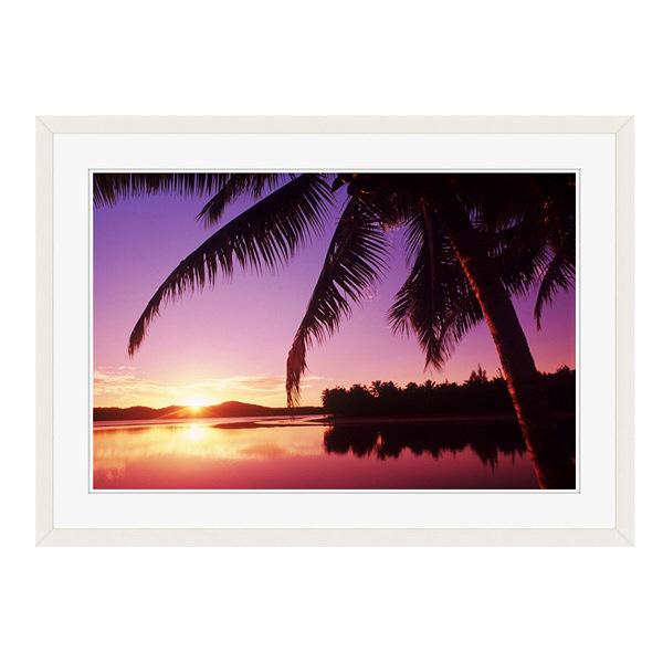 アートプリントジャパン 「Sunset in the Cook islands.」 フレーム/L/ホワイト 1枚