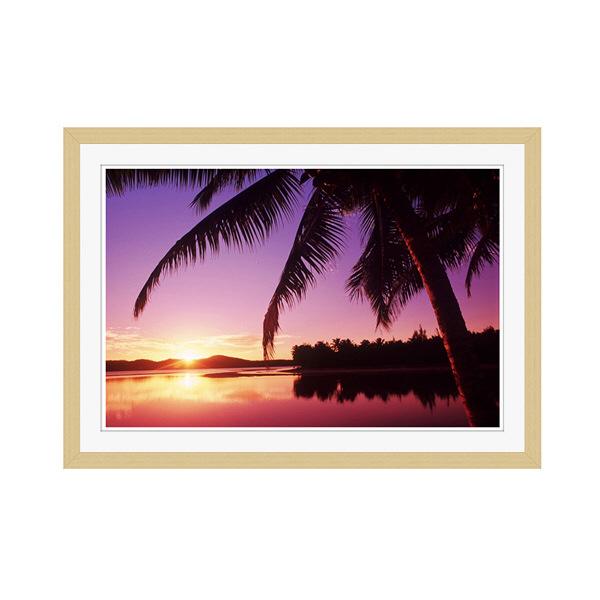 アートプリントジャパン 「Sunset in the Cook islands.」 フレーム/M/木目 1枚