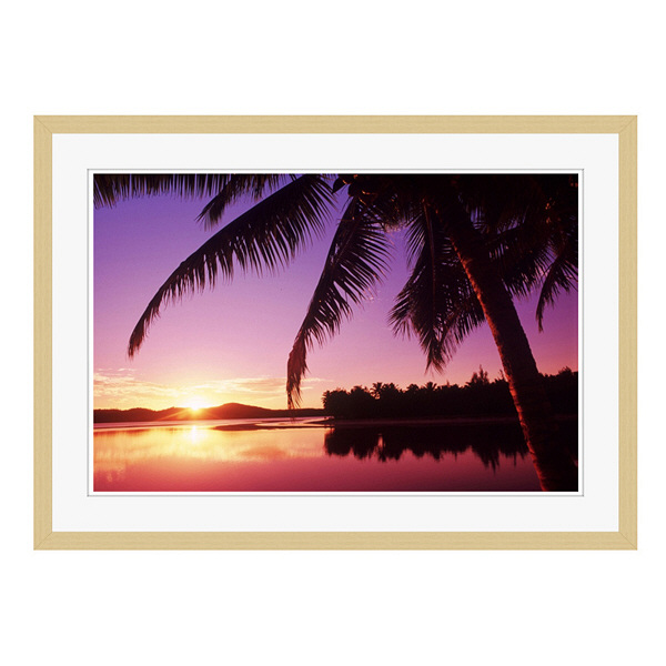アートプリントジャパン 「Sunset in the Cook islands.」 フレーム/L/木目 1枚