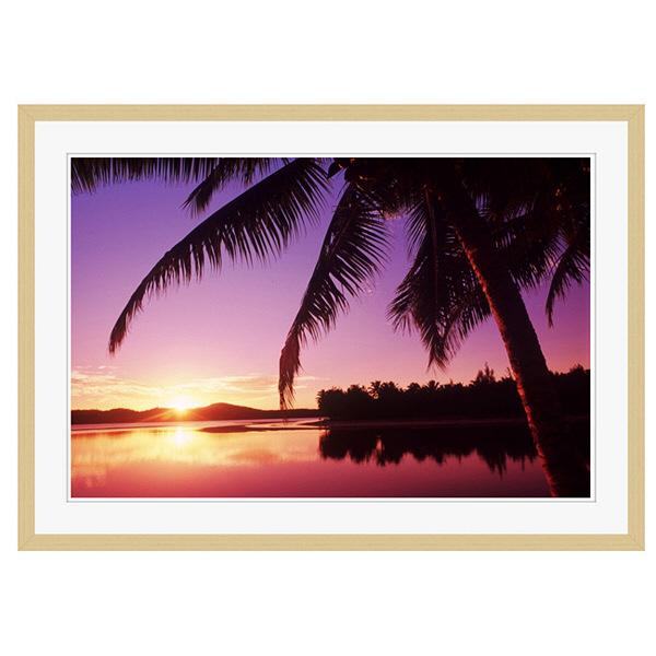 アートプリントジャパン 「Sunset in the Cook islands.」 フレーム/XL/木目 1枚