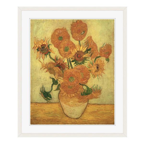 アートプリントジャパン 「Sunflowers 1889」 フレーム/L/ホワイト 1枚