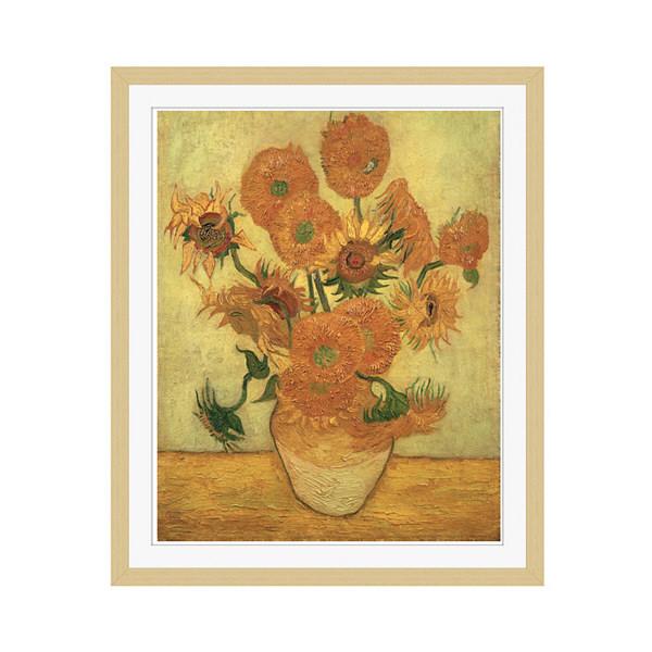 アートプリントジャパン 「Sunflowers 1889」 フレーム/M/木目 1枚