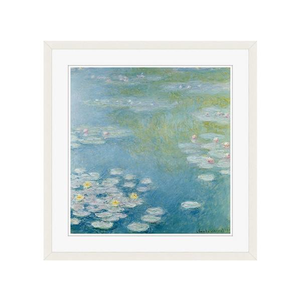 アートプリントジャパン 「Nympheas at Giverny by Monet Claude」 フレーム/L/ホワイト 1枚