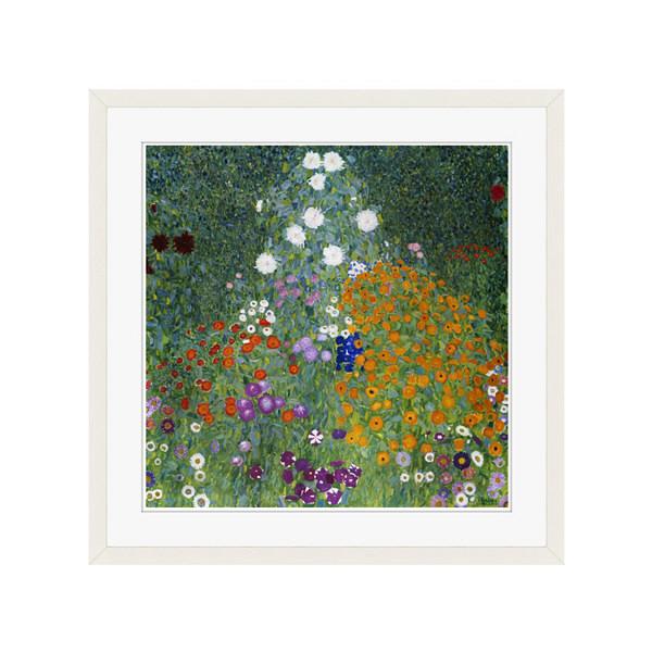 アートプリントジャパン 「Farmers Garden by Gustav Klimt」 フレーム/L/ホワイト 1枚