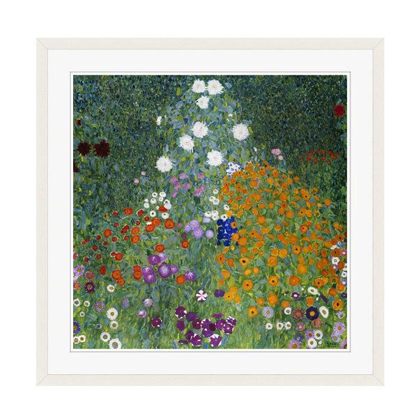 アートプリントジャパン 「Farmers Garden by Gustav Klimt」 フレーム/XL/ホワイト 1枚