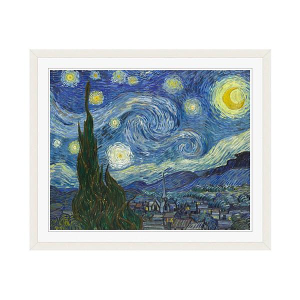 アートプリントジャパン 「The Starry Night by Vincent van Gogh」 フレーム/M/ホワイト 1枚