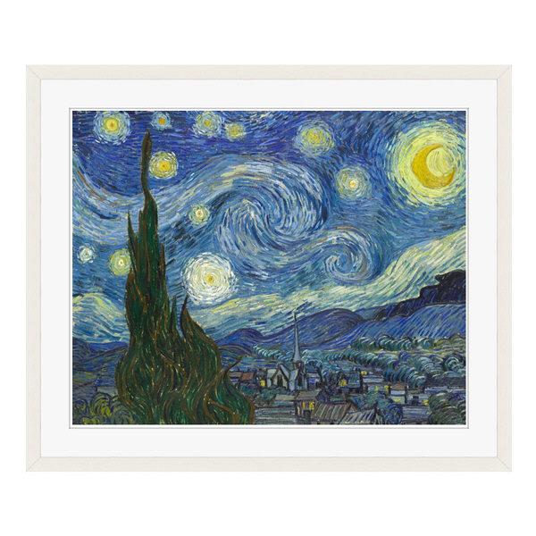 アートプリントジャパン 「The Starry Night by Vincent van Gogh」 フレーム/L/ホワイト 1枚