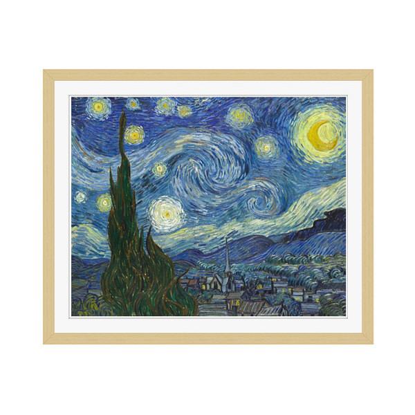 アートプリントジャパン 「The Starry Night by Vincent van Gogh」 フレーム/M/木目 1枚