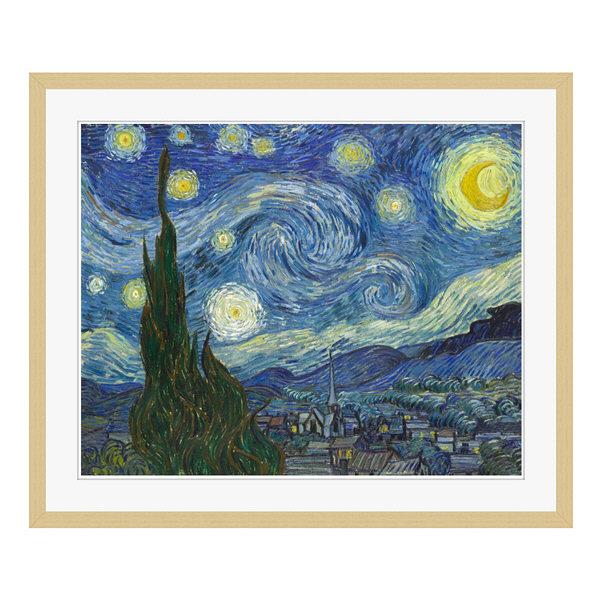 アートプリントジャパン 「The Starry Night by Vincent van Gogh」 フレーム/L/木目 1枚