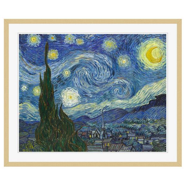 アートプリントジャパン 「The Starry Night by Vincent van Gogh」 フレーム/XL/木目 1枚