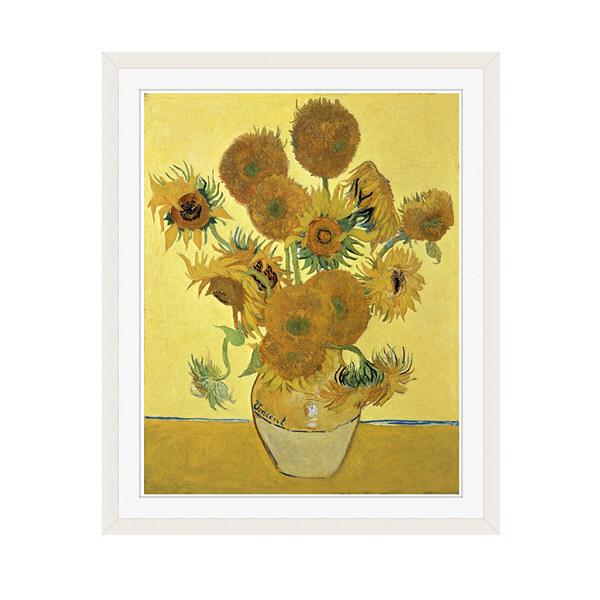 アートプリントジャパン 「Sunflowers」 フレーム/M/ホワイト 1枚