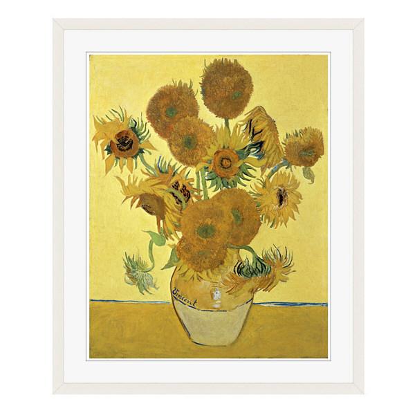 アートプリントジャパン 「Sunflowers」 フレーム/L/ホワイト 1枚