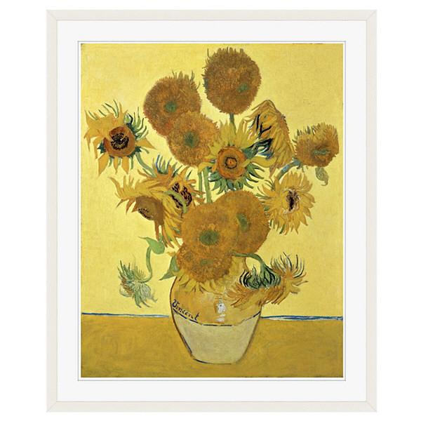 アートプリントジャパン 「Sunflowers」 フレーム/XL/ホワイト 1枚