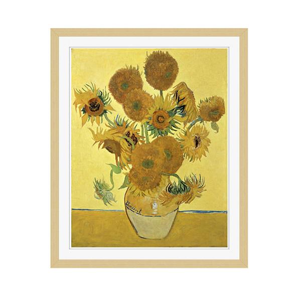 アートプリントジャパン 「Sunflowers」 フレーム/M/木目 1枚