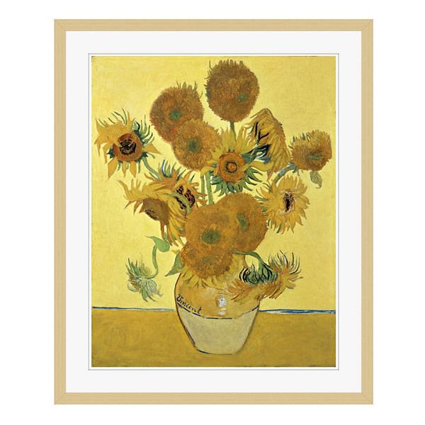 アートプリントジャパン 「Sunflowers」 フレーム/L/木目 1枚