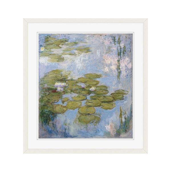 アートプリントジャパン 「Nympheas by Claude Monet」 フレーム/L/ホワイト 1枚