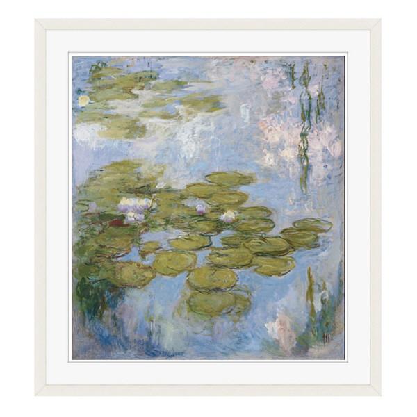 アートプリントジャパン 「Nympheas by Claude Monet」 フレーム/XL/ホワイト 1枚