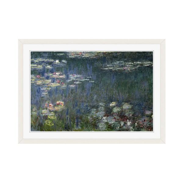 アートプリントジャパン 「Waterlilies: Green Reflections」 フレーム/M/ホワイト 1枚