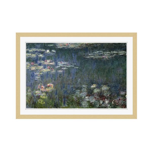 アートプリントジャパン 「Waterlilies: Green Reflections」 フレーム/M/木目 1枚
