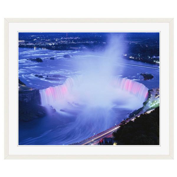 アートプリントジャパン 「ホースシュー滝の夜景」 フレーム/XL/ホワイト 1枚