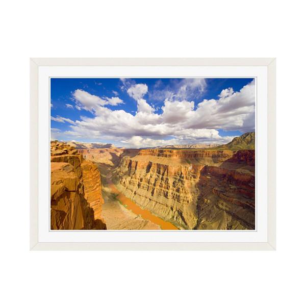 アートプリントジャパン 「Grand Canyon and Colorado River」 フレーム/M/ホワイト 1枚